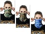 Bllomsem 3 Stücke outdoor-reisen Sonnengesichtsmaske Bike Motorrad Helm Hals Ski Maske Fahrmaske (Camouflage)