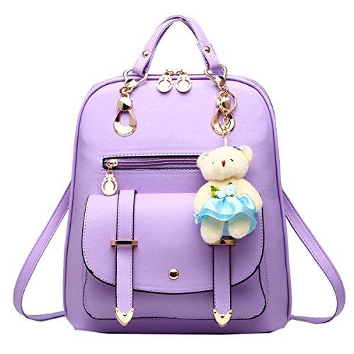 Borsa A Tracolla Yy.f Zaino Nuova Ondata Di Studentesse Di Grande Capacità Borse Da Donna Di Lusso Alla Moda Portafoglio Mobile Multicolore Purple