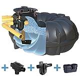 Zisterne 1500 Liter Regenwassertank NEO PROFI mit Deckel, Filter, ber. Zulauf und Siphon - Kunststoff, Kunststoffzisterne, Komplettset