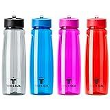 BPA Freie Trinkflasche mit Strohhalm Kunststoff Tritan Flasche ca. 750 ml, Wiederverwendbar Umweltfreundlich Sportflasche Auslaufsicher, ideal für Sport, Schule, Reisen, Outdoor und Freizeit