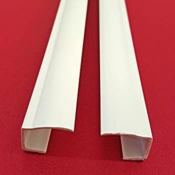 Side rail guide rail for clamp fix roller blinds can be shortened easy shadow set of 2 side rails length 150 cm self adhesive for klemmfix roller blinds blackout roller blind made of pvc can be shortened assembly without solutioingenieria Image collections