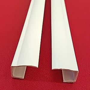 Easy-shadow-lot de 2 rails latéraux autocollant longueur 150 cm-store roulant occultant pour rail de guidage en pVC peut être raccourci montage sans perçage sur le battant de fenêtre occultant blanc