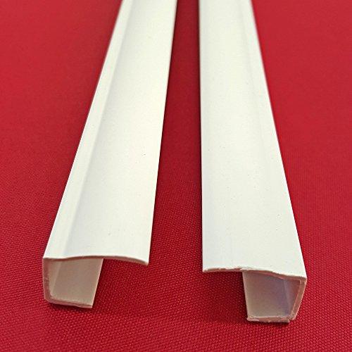 Preisvergleich Produktbild Easy-Shadow - 2 Stück Seitenschienen Länge 150 cm selbstklebend für Klemmfix-Rollos Verdunkelungsrollo - Führungsschiene aus PVC individuell kürzbar Montage ohne Bohren am Fensterflügel Verdunkelung - weiß