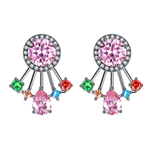 AAA Zircon Mosaic Earrings Exquisite Pop Zirconium Earrings,PhotoColor-OneSize