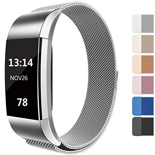 Lukasa Für Fitbit Charge 2 Armband, Einstellbare Metall Edelstahl Ersatzarmband mit Sperren für Fitbit Charge 2