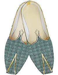 Mens Light Green Wedding Shoes dimensional Pattern MJ015279