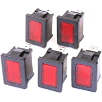 5 Stück Signalleuchten rot 220VAC 13x19mm Snap-In