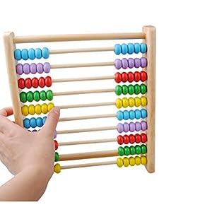 YeahiBaby Holz Abakus Rechenrahmen ??Zählen Spielzeug Berechnung Mathematik Frühen Lernspielzeug für Kinder