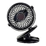 TOOGOO USB-Ventilator-Mini-Clip-Desktop-Luefter Silent Fan 360-Grad-rotierenden Luefter Akku und...
