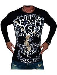 Cipo & Baxx Hombres Ropa superior / Camiseta de manga larga Skull