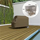 EDM Funda barbacoa grande impermeable color marron claro 70x130x70cm