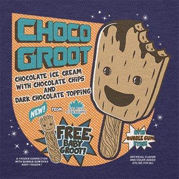TEXLAB - Choco Groot Ice Cream - Damen T-Shirt Navy