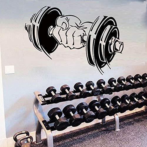 jiuyaomai Gym Barbells Muster Wandaufkleber Für Dekoration Zubehör Wandbild Sport Ausrüstung Aufkleber Wasserdicht Vinyl Wohnkultur rot 116x80 cm