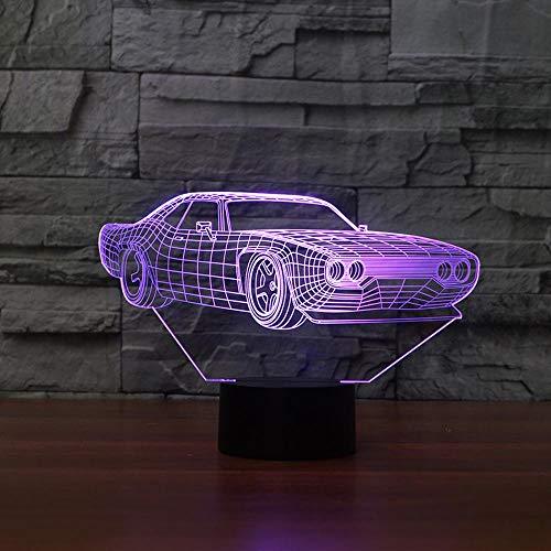 NDSLJSL 3D Luce Notturna Illuminazione Luce Lampade 7 Colore Impianto Stereo di Modellismo per Auto