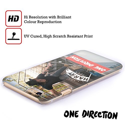 Offizielle One Direction Shirt Weiss Foto Harry Styles Ruckseite Hülle für Apple iPhone 6 / 6s Skating