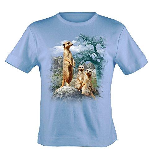 Bushfire T-Shirt Erdmännchen hellblau Blau