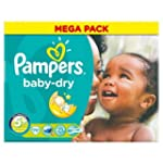 Couches Pampers Baby Dry taille 5�+ M...