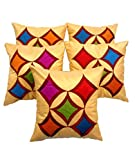 Car Vastra Beige Geometric Cushion Cover...