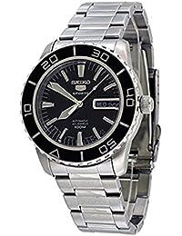 Seiko SNZH55K1 - Reloj analógico de caballero automático con correa de acero inoxidable plateada - sumergible a 100 metros