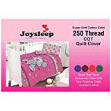 Love2Sleep ULTIMATE LUXURY 250 TC COTTON SATIN COT BED DUVET COVER & PILLOWCASE SET : FUNNY MOUSE