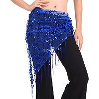 BOBORA Costume di danza del ventre Hip sciarpa triangolo paillettes scialle 77d4949a5697