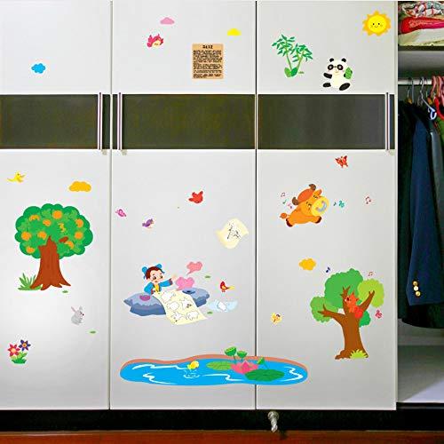 Meaosy Gott Stift Maliang China Cartoon Geschichte Wandaufkleber Für Kinderzimmer Kindergarten Kinderzimmer Kinder Schlafzimmer Wand Dekor Abziehbilder