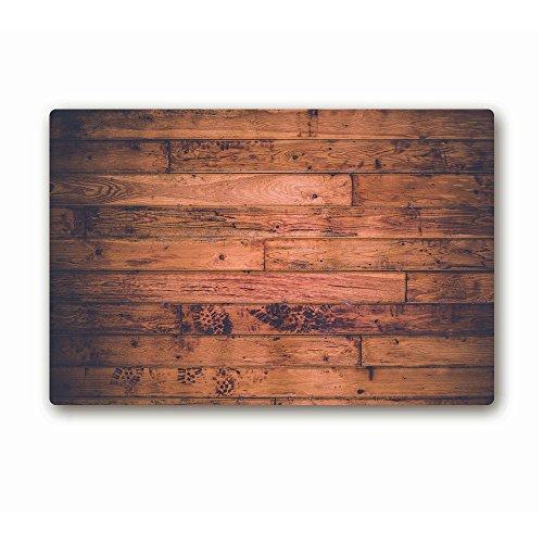 ailovyo Holzvertäfelung rutschfeste Textur Hintergrund Gummi Eintrag Way Fußmatte Outdoor Innen Decor Teppich Fußmatten, 59,9x 39,9cm