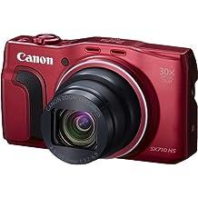 """Canon Powershot SX710 HS - Cámara compacta de 20.3 Mp (pantalla de 3"""", zoom óptico 30x), rojo"""