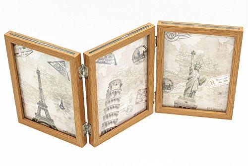 Smiling Art Bilderrahmen aus Holz für 6 Fotos, 13x18 cm, klappbar (Beige)