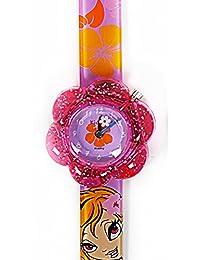 Reloj Kids analógico de cuarzo CHICA FASHION para niña chica en caja de regalo, resitentes al agua (3ATM), Mecanismo Seiko, Bateria Sony, Rosa y rojo