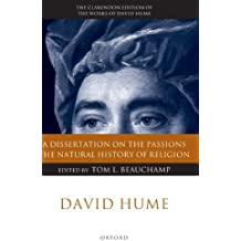 David Hume: A Dissertation on the Passions; The Natural History of Religion (Clarendon Hume Edition Series) (2008-02-03)