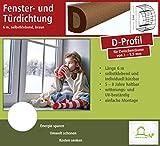 Fensterdichtung Türdichtung Dichtungsband für Tür- und Fensterspalten, D-Profil 6 m, braun, selbstklebend [CLASSIC] - Für Spaltenbreiten von 3 - 5,5 mm