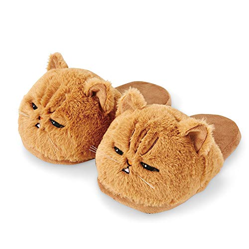 Unisex Kids Girls 3D Big Head Realistic Kitty Cat Womens Plush Fuzzy Slippers Ladies House Slippers