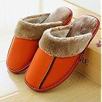 mhgao Donna Casual Pantofole Indoor pavimento antiscivolo in autunno e in inverno caldo lana pantofole, (Womens Hard Cap)