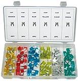 Umfangreiches Kunststoff MINI KFZ Sicherungen 11 mm Typ FK1 Flachsicherung Sortiment 120-tlg 5-30 Amper (im Aufbewahrungsbox/Sortimentsbox)