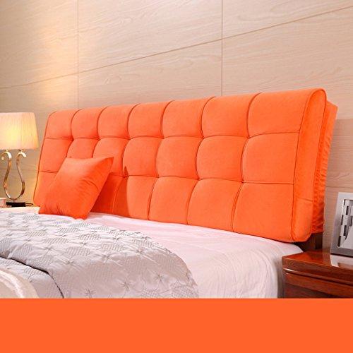 Dossier De Chevet Coussin ergonomique moderne Linge de tissu Linge de lit sans poche Grand dossier Ensemble de coussin Housse de lit Big Pillow Pure Color 58 * 155cm (Couleur : H)