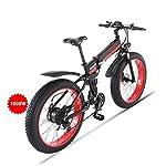 51dQdtfWwYL. SS150 GUNAI Bici Elettrica, FrenDisco Idraulico Shimano 21 velocità, Bici da Montagna 1000W per Spiaggia e Neve