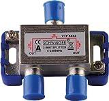 Schwaiger VTF8842241 High-End-Verteiler 2-fach für BK- und GA-Anlagen