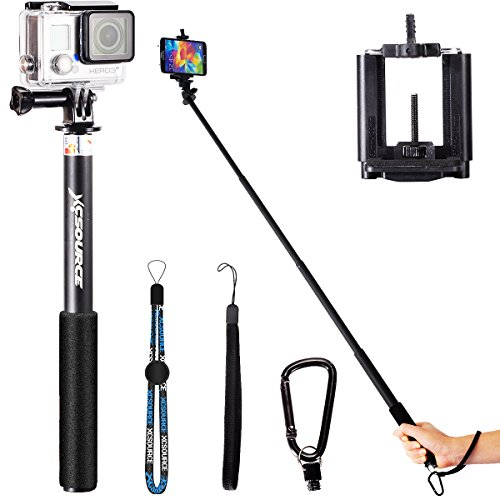 Professionale Selfie Stick Monopiede estensibile Handheld Monopod Per iPhone 6 5 5S 4S 4 Samsung Galaxy S5 S4 S3 Nota 3 2 LG, Motorola, HTC, Sony, Nokia, Digitale Camera, GoPro camera XC201