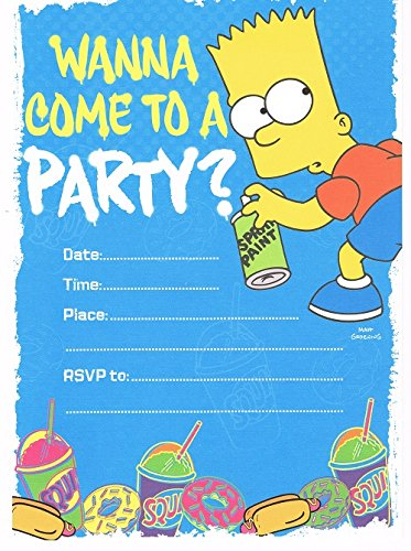 bart-simpson-from-the-simpsons-pack-of-10-party-invitations