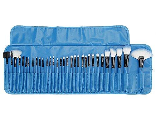 AKAAYUKO Mini Brosse Makeup Blush Fondation Pinceau Poudre Cosmétique Professionnel 32pcs Set/Kit -Bleu 1