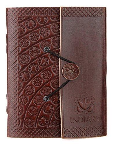 Carnet de notes de luxe indiary en cuir de buffle et papier puisé à la main