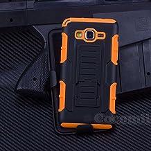 Galaxy Grand Prime Funda, Cocomii Robot Armor NEW [Heavy Duty] Premium Belt Clip Holster Kickstand Shockproof Hard Bumper Shell [Military Defender] Full Body Dual Layer Rugged Cover Case Carcasa Samsung G530 G5309W (Orange)