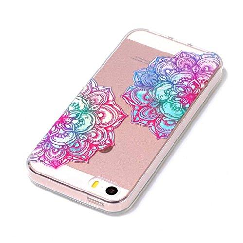 Fodlon® Chat Transparent Soft Case pour Apple iphone5/5s/5c Mandala