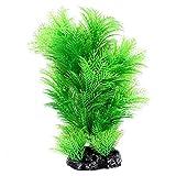 Kunststoff Pflanze - TOOGOO(R) Kuenstliche Aquarium Unterwasser Pflanze Ornament 16cm Koerpergroesse Gruen