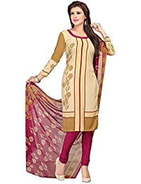 A K Designer Women's Chiffon Dress Material (Mehak1011_Free Size_Off-White)
