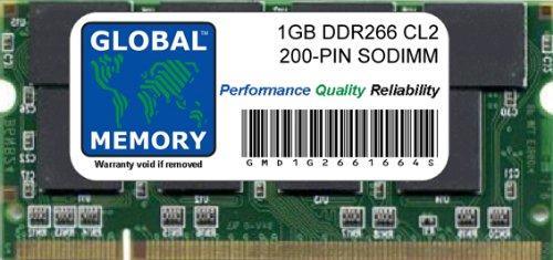 GLOBAL MEMORY 1GB DDR 266MHz PC2100200-PIN SODIMM ARBEITSSPEICHER FÜR iBook G4& Aluminium POWERBOOK G4