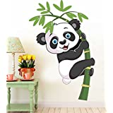 PPD Baby Panda Removable Decor Environmentally Mural Wall Stickers Decal Wallpaper For Kids Home Living Room Bedroom Bathroom Kitchen Office