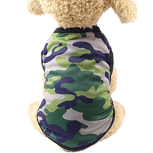 Hund Pullover, Covermason Hund Weste Geschenke Baumwolle Hemd Katze Haustier Kleider Camouflage ()
