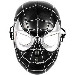 5-8 años - Máscara de Disfraces - Traje - Disfraz - Carnaval - Halloween - Superhéroe - Spider-Man - Negro - Niños